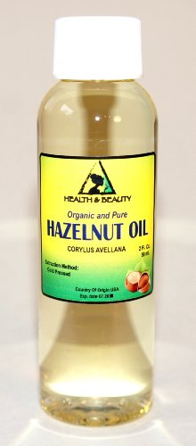 Hazelnut Oil Organic Carrier Cold Pressed 100% Pure 2 oz