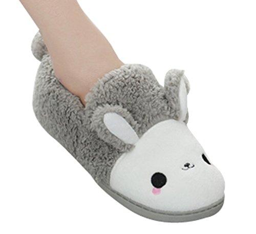 Pantofole Cattior Womens Cartoon House Bunny Ciabatte Grigie