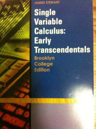 Read Online Single Variable Calculus w/ Early Transcendentals Customized for Brooklyn College pdf epub