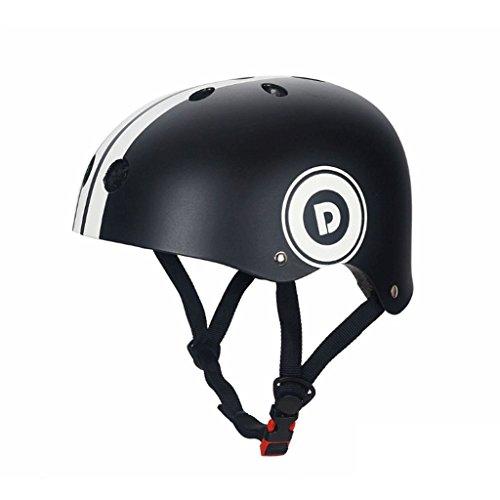 Great St. DGF Helmet Roller Ski Snowboard Mountain Bike Riding Sports Safety Balance Car Helmet Adjustable (Color : Black, Size : M) ()