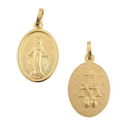 Pendentif Maria 585/or 14carats Madonna Immaculata milag Rose Or jaune NEUF (94832)