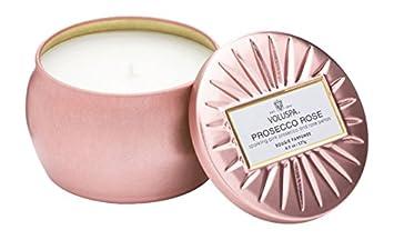 Amazoncom Voluspa Mini Decorative Tin Candle Prosecco Rose 45