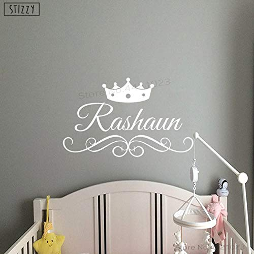 DalaB STIZZY Wall Decal Prince Crown Personalized Name for sale  Delivered anywhere in Canada