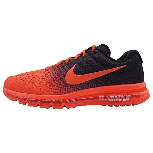 NIKE Mens Air Max 2017 Running Shoes (14, Bright Crimson/Total ()