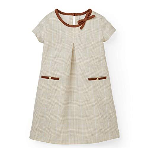 Hope & Henry Girls Ponte A-Line Dress Made Organic Cotton