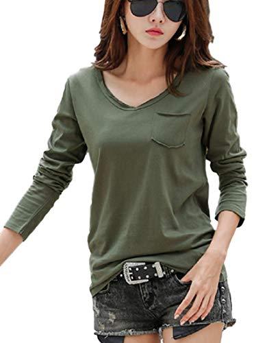 【ラランザ】レディース 長袖 カットソー Tシャツ カラフル 大きいサイズ M~3?