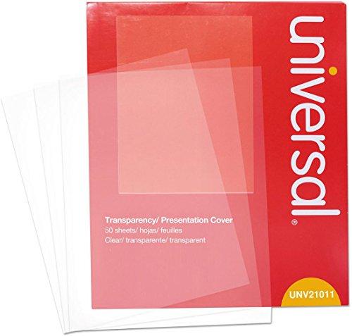- Universal 21011 Transparent Sheets, B&W Laser/Copier, Letter, Clear, 50/Pack