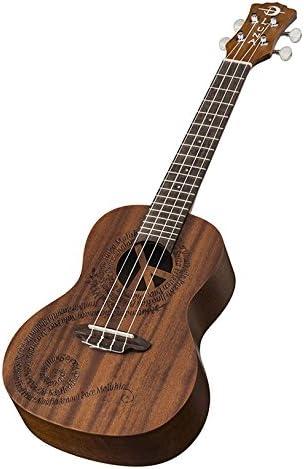 Luna Guitars UKEMALU - Ukelele (caoba, 4 cuerdas), color marrón ...