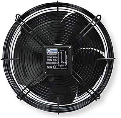 Ventilador axial de tubo 630 mm, 10000 m3/h, 400 V, rejilla de ...