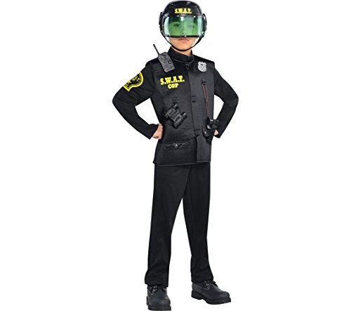 AMSCAN SWAT Cop Halloween Costume for Boys, Large, with Included Accessories -