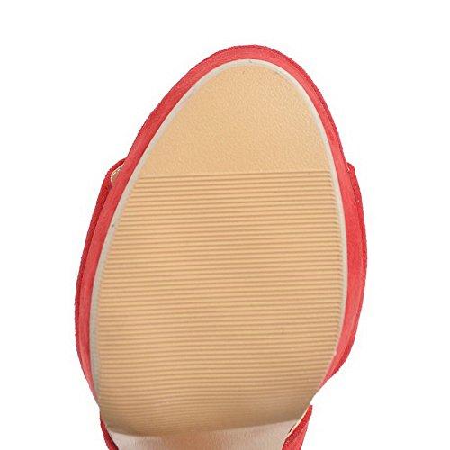 Sandals Sandali Asl04808 Urethane Womens Alto Tacco Rosso Balamasa Huarache UxqZwfxO
