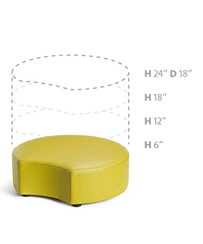 Logic Furniture MOONCZT12 Moon 2 Crescent Ottoman, 12'', Zest by Logic Furniture