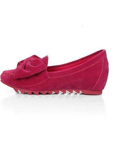 Tipo de Mujer Talón Mocasín morado Cn41 rosa cerrado Pdx Plano Uk7 Ante Casual Black Flats Redonda Eu40 De Negro azul Toe Zapatos punta us9 fdttw0q