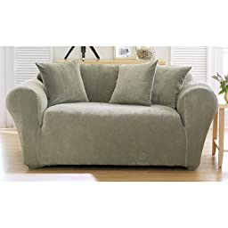 Sure Fit Stretch Pique Knit  - Chair Slipcover  - Sage (SF28975)