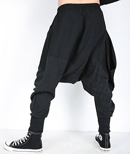 A Ample Gym22 Gym188 Hiver Harem Taille Élastique Unique Ellazhu Homme Pantalon xzq1w8wEA