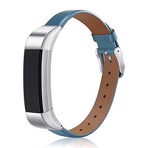 SUNEVEN para Fitbit Alta/Fitbit Alta HR correa de cuero, ajustable de repuesto pequeña