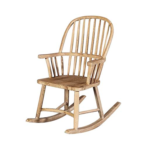 SHANJIANQING Rocking Chairs American Retro Single Rocking Chair, Fixed Houml Wood Terrace Beilauml; More Common Hair Windsor Chair 7044 (Size: B) -XZL008 (Size : A)