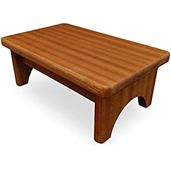 Amazon Com Ehemco Hardwood Footstool In Natural 12