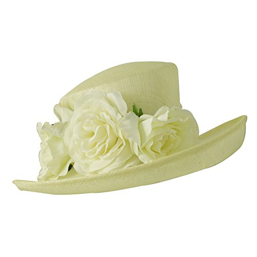 Cosima Straw Dressy Hat. Ivory, one size. - Cosima Costume