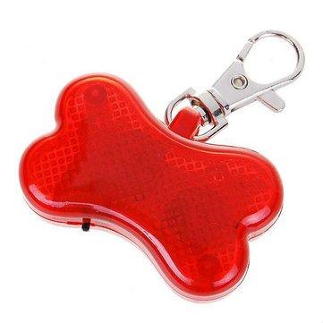 Dog Bone Led Lights Pet Collar Led Light - Cute Pet Clar Pendant Bone Flashing LED Light Red ( Pet Led Light)