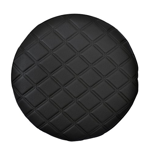 Freahap Stool Chair Cover Round Seat Cushion Slipcover Fit Stand Barstools Black L (Seat Cover Stool Bar)