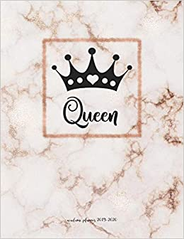 Academic Planner 2019 2020 Queen And Crown Female Empowerment Organizer For Weekly Monthly Yearly Scheduling From July 2019 June 2020 In Rose Gold Marble My Life At Peace Academic Planners 9781072717706 Amazon Com Books