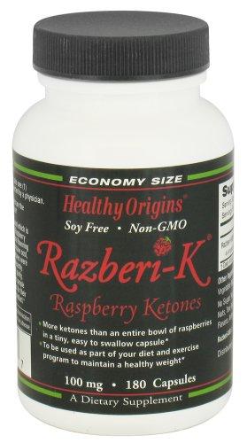 HEALTHY ORIGINS RASPBERRY KETONES,100MG, 180 CAP Review