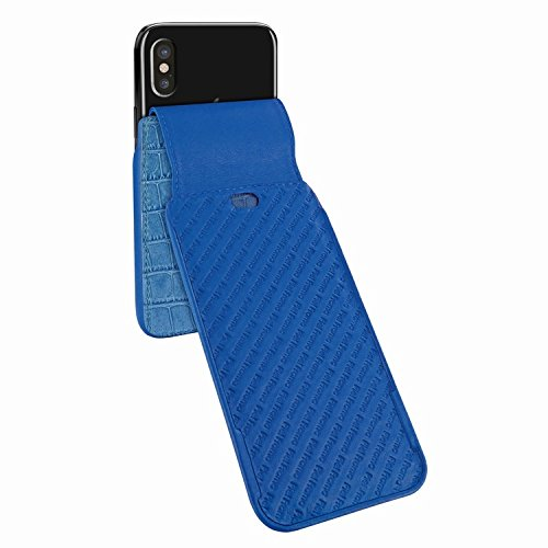Piel Frama 792 Blue Crocodile iMagnum Leather Case for Apple iPhone X by Piel Frama (Image #4)