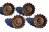 Flower Napkin Rings Set of 4 Handcrafted Wedding Décor (Copper Antique)