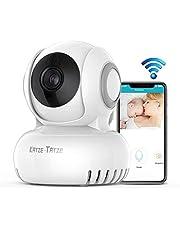 Katze-Tatze Caméra Sans Fil, Caméra Surveillance Wifi, 720P IP Caméra Bébé pour Aîné d'animal Familier Interphone Bidirectionnel, Panoramique/Inclinable, Détection de Mouvement et Vision Nocturne
