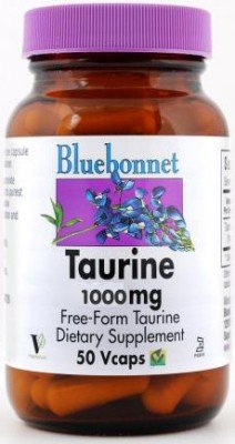Bluebonnet Taurine 1000 mg Capsules de vitamines, Count 50