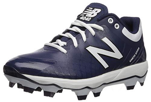 New Balance Men's 4040v5 Molded Baseball Shoe, Navy/White, 6.5 W (Boys Baseball Metal Cleats)