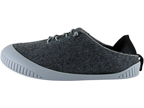 Grey Dualyz Grey 100 Slipper Light Shoe Removable Unisex Wool Sole Fit with Dark qwZrSqx7