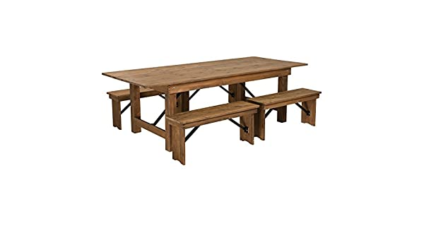Amazon Com Flash Furniture Hercules Series 8 X 40 Antique