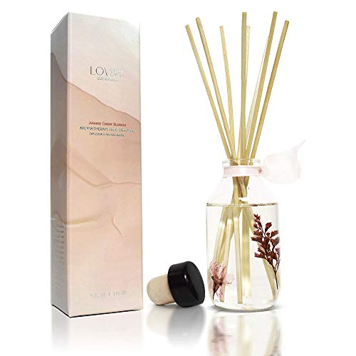 LOVSPA LOVSPA Japanese Cherry Blossom Reed Diffuser | Key Notes: Japanese Cherry Blossom, Asian Pear, Fresh Mimosa Petals, White Jasmine & Blushing Sandalwood | Makes a Great Gift! price tips cheap