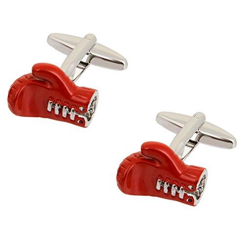 Glove Cufflinks - Red Boxing Gloves Cufflinks
