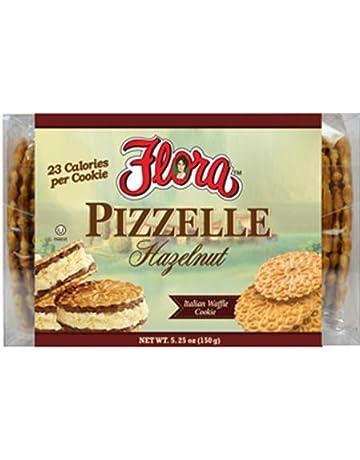 Flora Foods Pizzelle Cookies - Italian Waffle Cookie - Sweet Snack (Hazelnut)