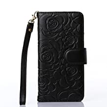 iPhone 6s case,iPhone 6 4.7inch case,Liujie [Wallet Stand] PU Leather Wallet Flip Protective Case with Card Slots and Wrist Strap for iPhone 6 6s Case (black)