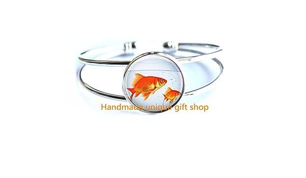 Goldfish Bowl Fashion Bracelet,Fish Bracelet Fish Bowl Art Bracelets-RC168 Fish Tank Aquarium Fish Jewelry