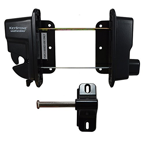 (Weatherables Black Zinc Diecast Metal Key Lockable Keystone Latch | 2-Sided | Keyed Alike | KLADV-M2-BK-KA-WEA)