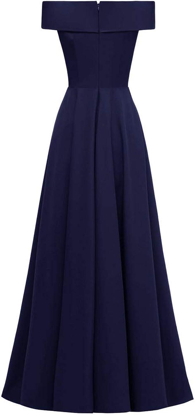 Eternali Damen Abendkleid Langes Kleid Maxikleid Brautjungfer