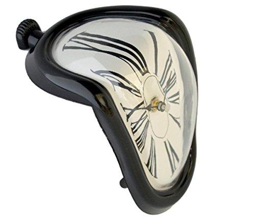 RoomClip商品情報 - ダリの柔らかい時計 インテリア置き時計 90度曲がったアートクロック (黒)