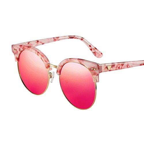 Regalo Gafas Sol Gafas Púrpura Libre Sol Aire Medio red Protección Cuadro Al De LLZTYJ De Cumpleaños C Párrafo Mármol Masculino De Sol Uv Diseño A Gafas Mujer Decoración Viento De SH67wd