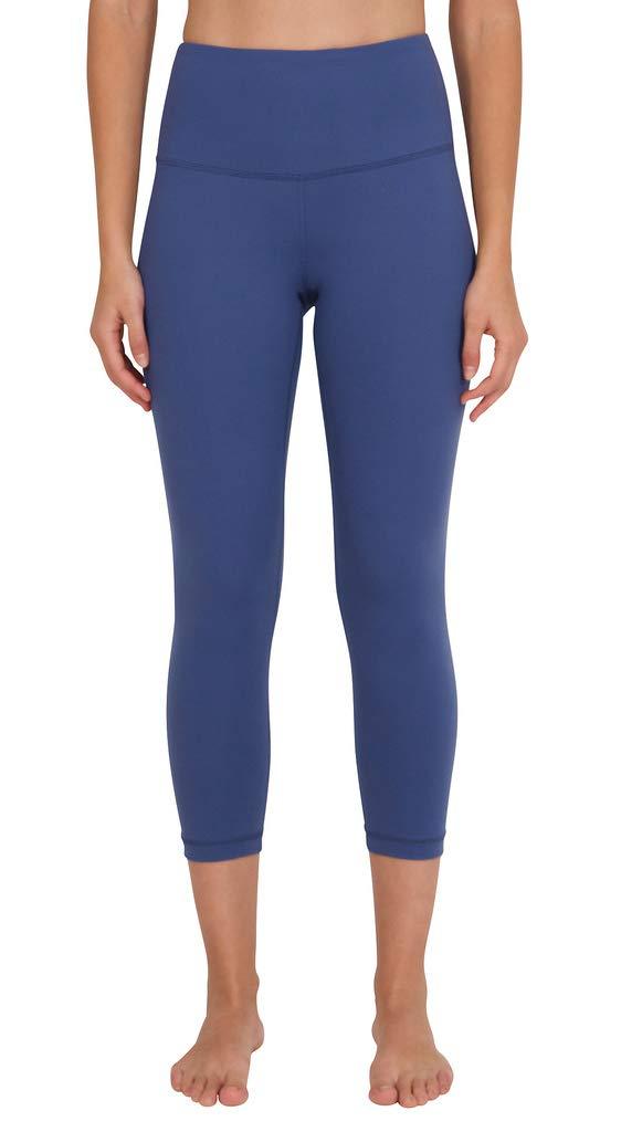 90 Degree By Reflex - High Waist Tummy Control Shapewear - Power Flex Capri - Cloudburst Blue - XS