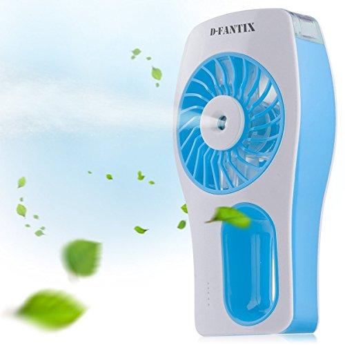 D FantiX Handheld USB Misting Fan Portable Mini Water Spray Fan With  Personal Cooling Mist Humidifier Battery ...