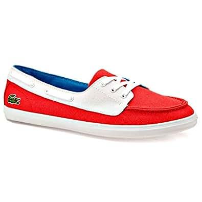 Lacoste ZIANE DECK RES Kırmızı BEYAZ Kadın Sneaker Renkli 39
