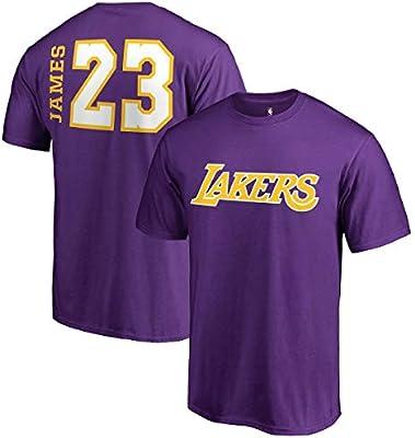 e274c392e3e Amazon.com : Fanatics Unisex Los Angeles Lakers Lebron James Side Sweep Player  T-Shirt X-Large Purple : Clothing