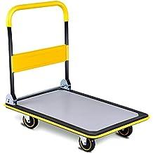 Goplus Folding Platform Cart 660LB Rolling Flatbed Cart Hand Platform Truck Push Dolly for Loading