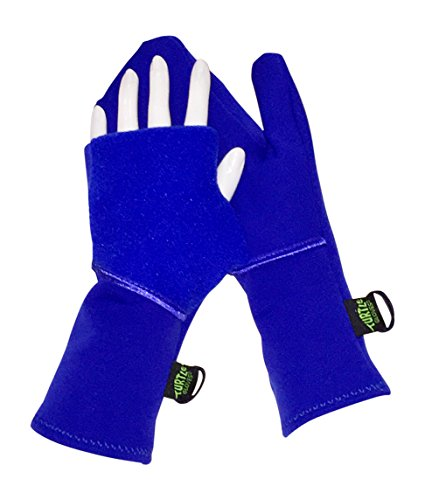 Turtle Gloves Midweight Convertible Running Mittens for Winter Size-S