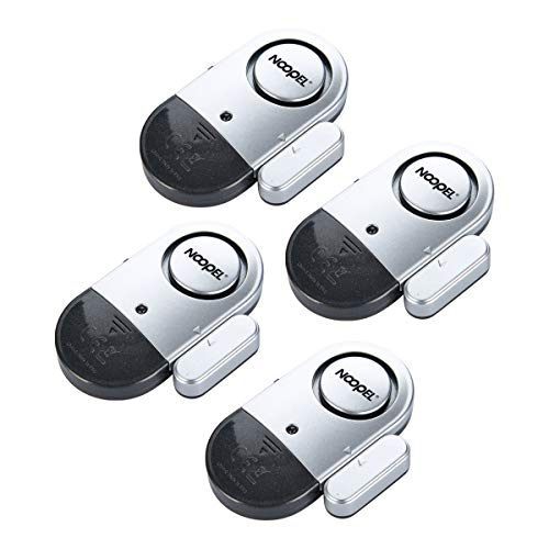 Door Window Alarm 4 Pack NOOPEL Magnetic Entry Sensor Burglar Alert 120DB Loud for Home Security Kids Safety with Batteries Included - DIY Home Protection Easy Installation